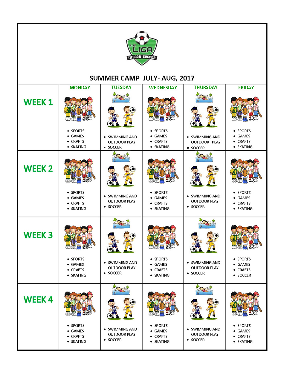 Summer Camp 2017 Program